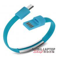 Adatkábel univerzális Micro USB kék csuklópánt