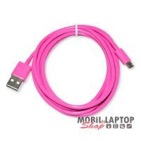Adatkábel univerzális Micro USB rózsaszín
