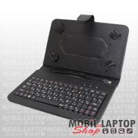 """Alcor univerzális tablet tok Bluetooth 3.0 billentyűzettel 9/10"""" fekete, Android/iOS kompatib BT-100"""