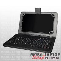"""Alcor univerzális tablet tok Micro USB billentyűzettel 7"""" fekete KB 70X"""