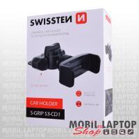 Autós tartó univerzális CD nyílásba illeszthető fekete SWISSTEN S-Grip S3-CD1