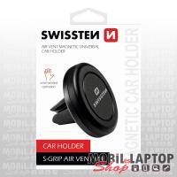 Autós tartó univerzális szellőzőrácsba illeszthető mágneses SWISSTEN S-Grip Easy Mount fekete