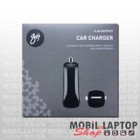 Autós töltő univerzális USB adapter 2.4A Goji