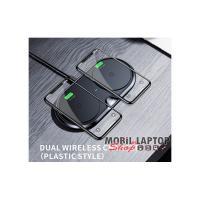 Baseus Dual fekete asztali vezeték nélküli töltőpad