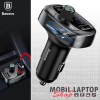Baseus S-09 autós töltő 2 x 3.4A + Bluetooth FM transmitter