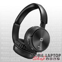 Bluetooth sztereo fejhallgató mikrofonnal, MicroSD, FM Rádió, 3,5mm jack Swissten Trix fekete