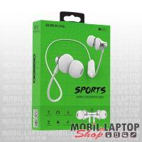 Borofone BE32 Easygoing univerzális fehér bluetooth 5.0 SPORT headset mikrofonnal