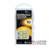 Elem Duracell EASYTAB 10/PR70 1,45V hallókészülékhez (6db/csomag)