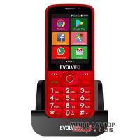 """EVOLVEO EP-900 Easy Phone AD 2,8"""" 3G 4GB Dual SIM piros mobiltelefon"""