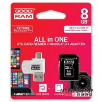 GOODRAM 8GB SD micro (SDHC Class 10 UHS-I) (M1A4-0080R11) All in 1 memória kártya + kártyaolvasó