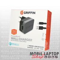 Hálózati töltő univerzális Quick Charge 2.0 Micro USB 3.0 15W gyorstöltés támogatás GRIFFIN