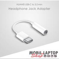 Huawei CM20 univerzális USB Type-C / Jack 3,5mm (anya) átalakító adapter fehér