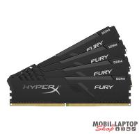 Kingston 64GB/3000MHz DDR-4 HyperX FURY fekete (Kit 4db 16GB) (HX430C15FB3K4/64) memória