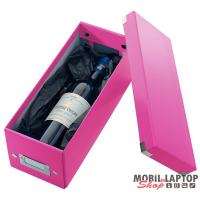 Leitz Click-n-Store CD tároló doboz lakkfényű rózsaszín