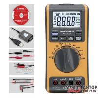 Maxwell 25328 digitális multiméter 5az1-ben·USB-s PC kapcsolattal