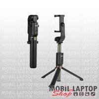 Remax P9 univerzális tripod és selfie bot, bluetooth távirányítóval fekete