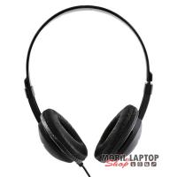 Sencor SEP 275 ultra könnyű fekete fejhallgató