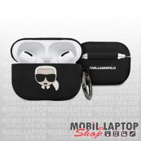 Szilikon tok Apple AirPods Pro fekete KARL LAGERFELD KLACAPSILKGLBK