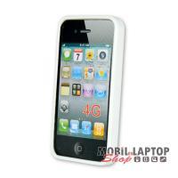 Szilikon tok Apple iPhone 4 / 4S fehér