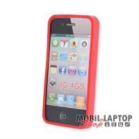 Szilikon tok Apple iPhone 4 / 4S piros