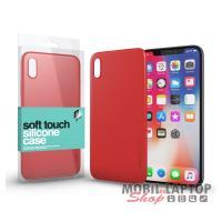 """Szilikon tok Apple iPhone X. / XS. ( 5,8"""" ) soft touch felülettel piros xPROTECTOR"""