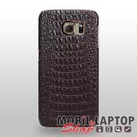 Szilikon tok Samsung G925 Galaxy S6 edge fekete krokodil mintás