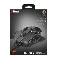Trust GXT 138 X-Ray Illuminated fekete gamer egér
