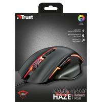 Trust GXT 168 Haze Illuminated fekete gamer egér