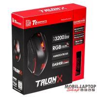 Ttesports Talon X Fekete USB Gamer egér + egérpad
