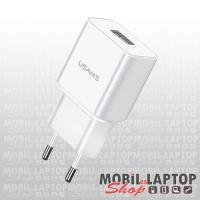 USAMS T11 univerzális hálózati töltő USB adapter 2.1A