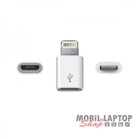 Adapter Micro USB ( anya ) / Apple lightning 8-pin ( apa ) átalakító adapter
