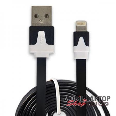 Adatkábel Apple iPhone 5 / 6 / 6S / SE / 7 és iPad Air / Mini lightning fehér / fekete