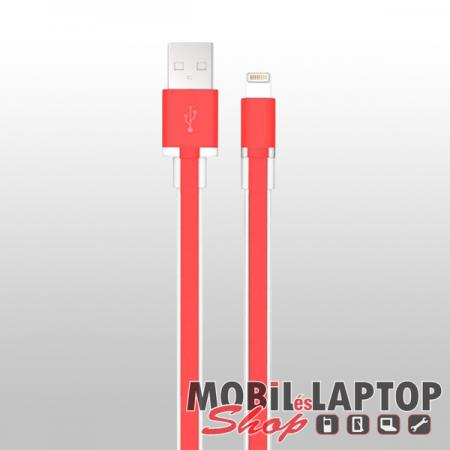 Adatkábel Apple iPhone 8pin lightning piros 100cm MFI engedéllyel BLACK ROCK