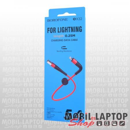 Adatkábel Apple iPhone 8pin lightning piros 25cm Borofone BX32