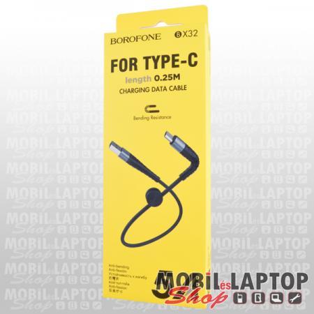 Adatkábel univerzális USB Type-C fekete 25cm Borofone BX32/hoco. X35