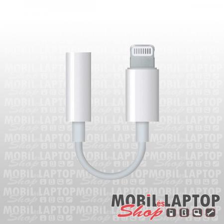 Apple iPhone 7 / 8 / X. lightning 8pin - 3,5mm jack átalakító adapter ( A1749 ) MMX62ZM/A