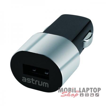 Astrum CC100 fekete - ezüst autós szivar töltő 1.0A 1xUSB A93010-S