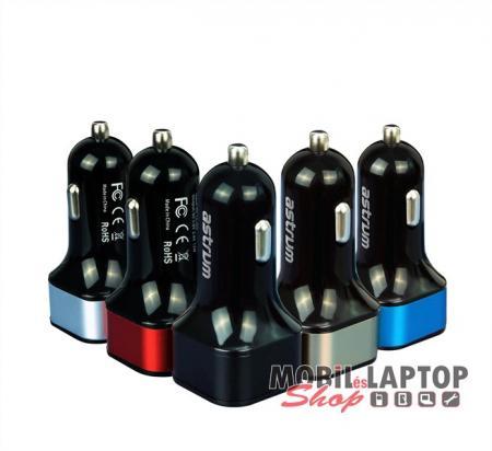 Astrum CC340 (új verzió) fekete autós töltő 4.8A 2USB microUSB adatkábellel