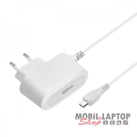 Astrum CH200 2.0A micro USB hálózati töltő 1,5M kábellel EU fehér