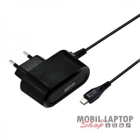 Astrum CH200 2.0A micro USB hálózati töltő 1,5M kábellel EU fekete