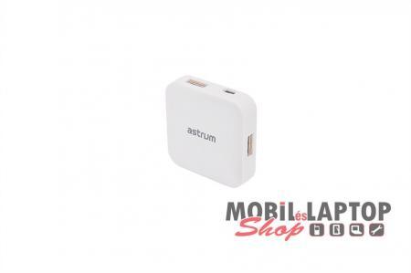Astrum USB2.0 4 port HUB fehér UH040