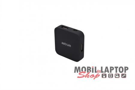 Astrum USB2.0 4 port HUB fekete UH040