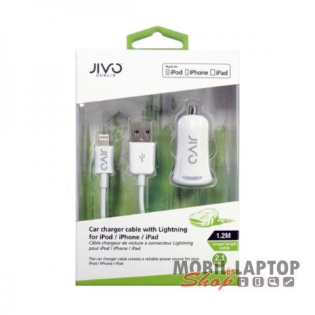 Autós töltő Apple iPhone lightning 8pin JIVO 2.1A ( 5 / 5S / 5C / 6 / 6S / SE / 7 )