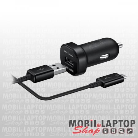 Autós töltő Samsung Micro USB 2000mAh gyorstöltő 1,5m kábellel fekete ( EP-L1100NBEG / ECB-DU4EBE )