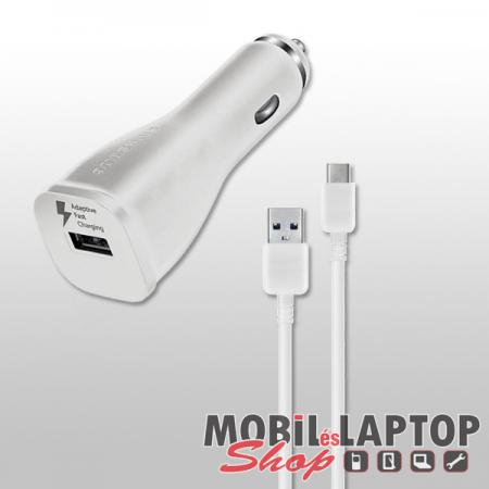 Autós töltő Samsung USB Type-C 2000mAh gyorstöltő fehér ( EP-LN915U / EP-DW700CWE )