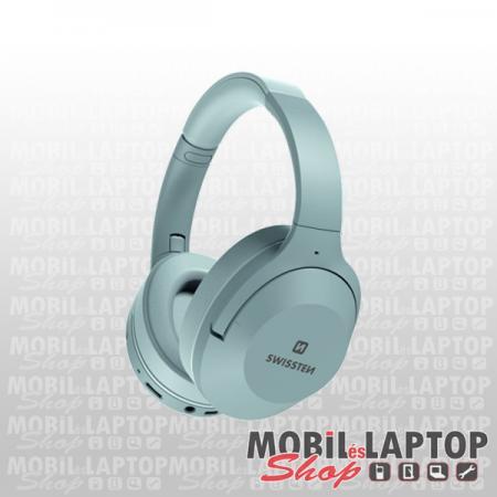 Bluetooth sztereo fejhallgató mikrofonnal, MicroSD, FM Rádió, zajszűrős Swissten Hurricane szürke