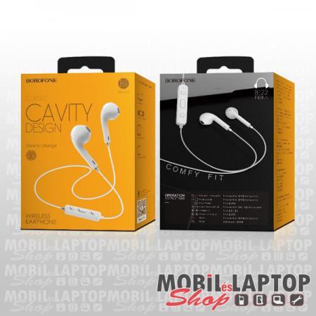Borofone BE22 Free Run univerzális fehér bluetooth 4.2 SPORT headset mikrofonnal