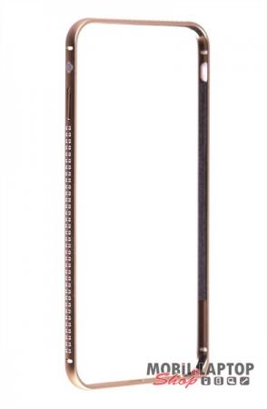"""Bumper Apple iPhone 6 / 6S ( 4,7"""" ) alumínium arany köves mellow series TOTUDESIGN"""
