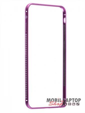 """Bumper Apple iPhone 6 / 6S ( 4,7"""" ) alumínium rózsaszín köves mellow series TOTUDESIGN"""