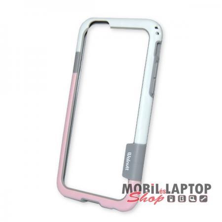 """Bumper Apple iPhone 6 / 6S ( 4,7"""" ) minőségi Walnutt rózsaszín-szürke"""